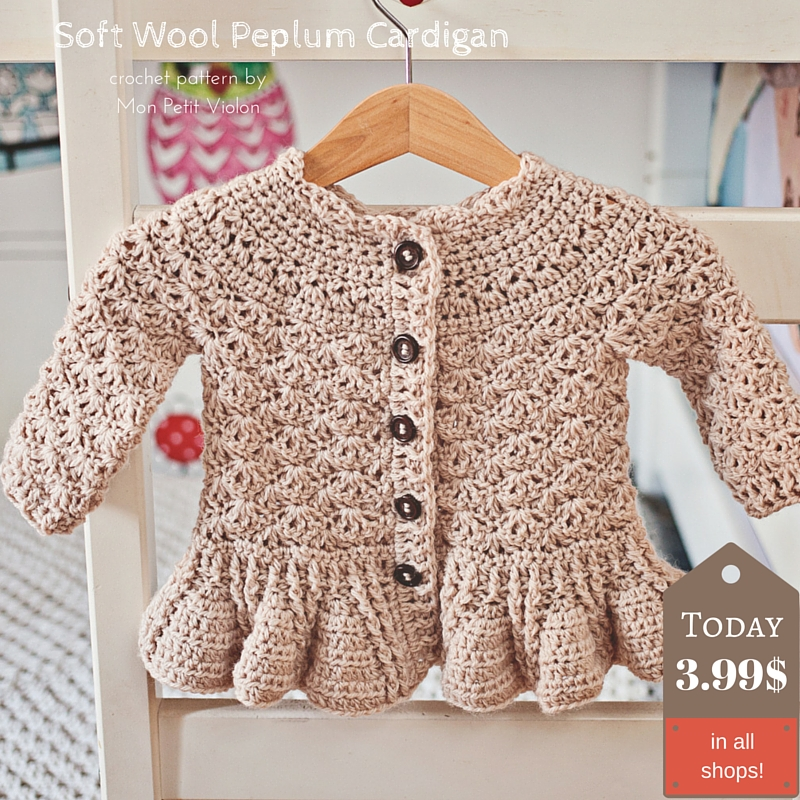 How to make gorgeous peplum cardigan for kids? Pattern is here!