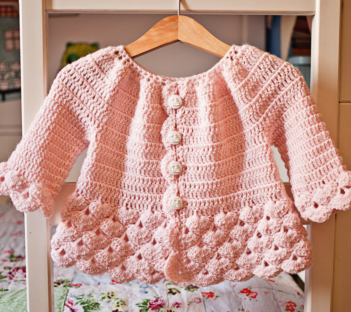 Crochet pattern - Cherry Blossom Cardigan - by Mon Petit Violon
