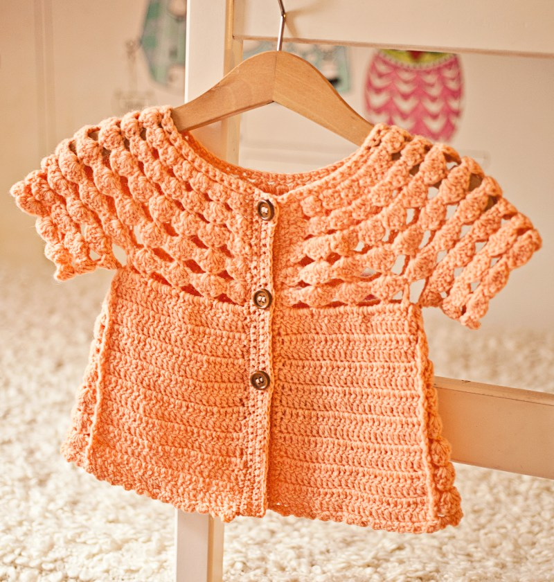 Luise Cardigan, crochet pattern by Mon Petit Violon