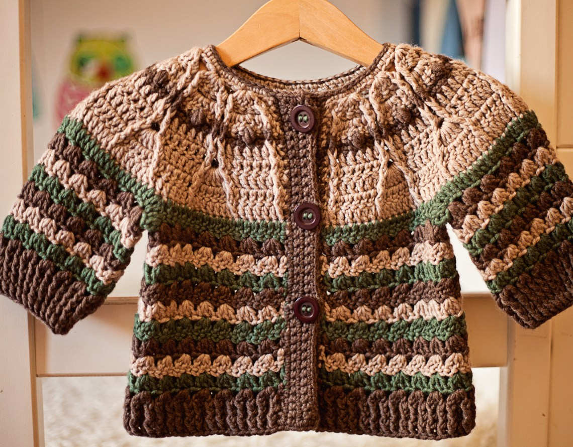 Milla Cardigan, crochet pattern by Mon Petit Violon