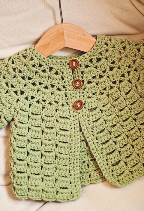 Lace Cardigan, crochet pattern by Mon Petit Violon