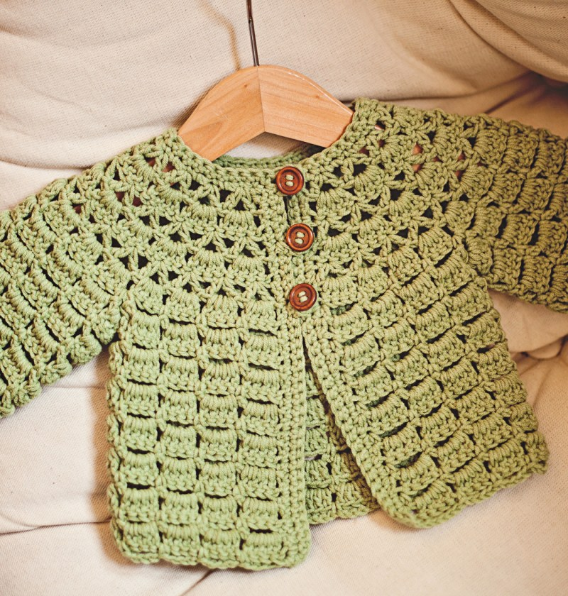 Lace Cardigan, crochet pattern by Mon Petit Violon