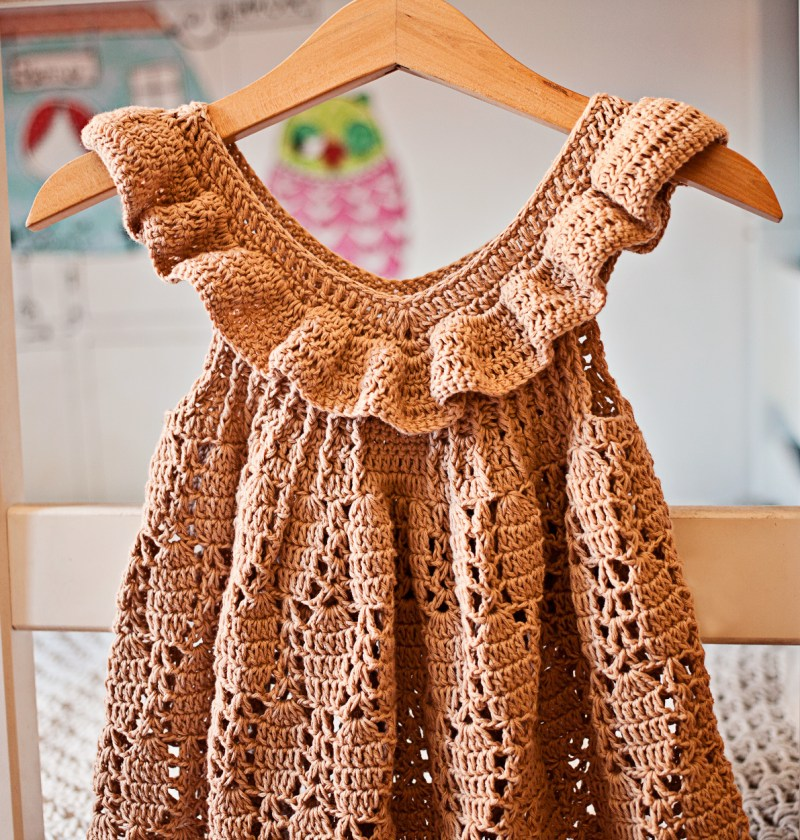 Truffle Ruffle Dress, crochet pattern by Mon Petit Violon