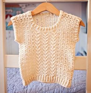 Chevron Vest, crochet pattern by Mon Petit Violon