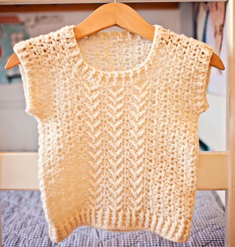 Chevron Vest, crochet pattern by Mon Petit Violon