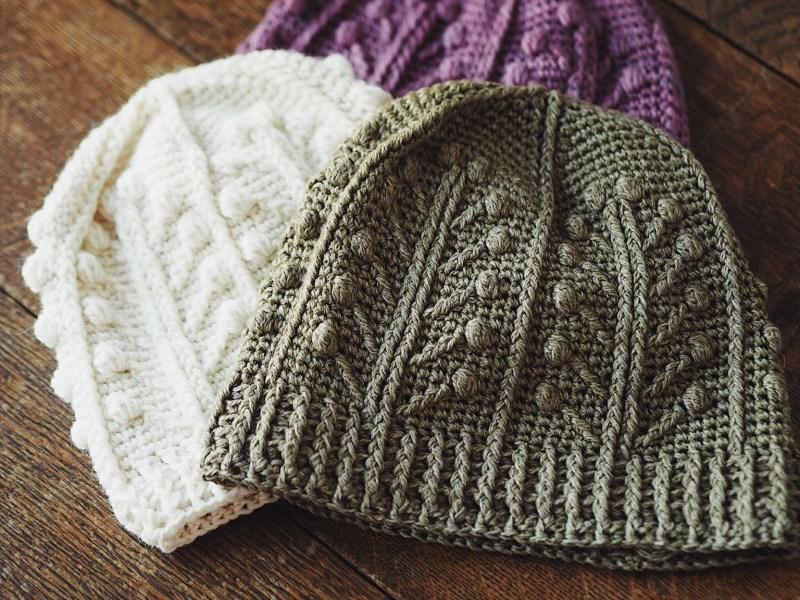 Winter Garden Beanie, crochet pattern by Mon Petit Violon