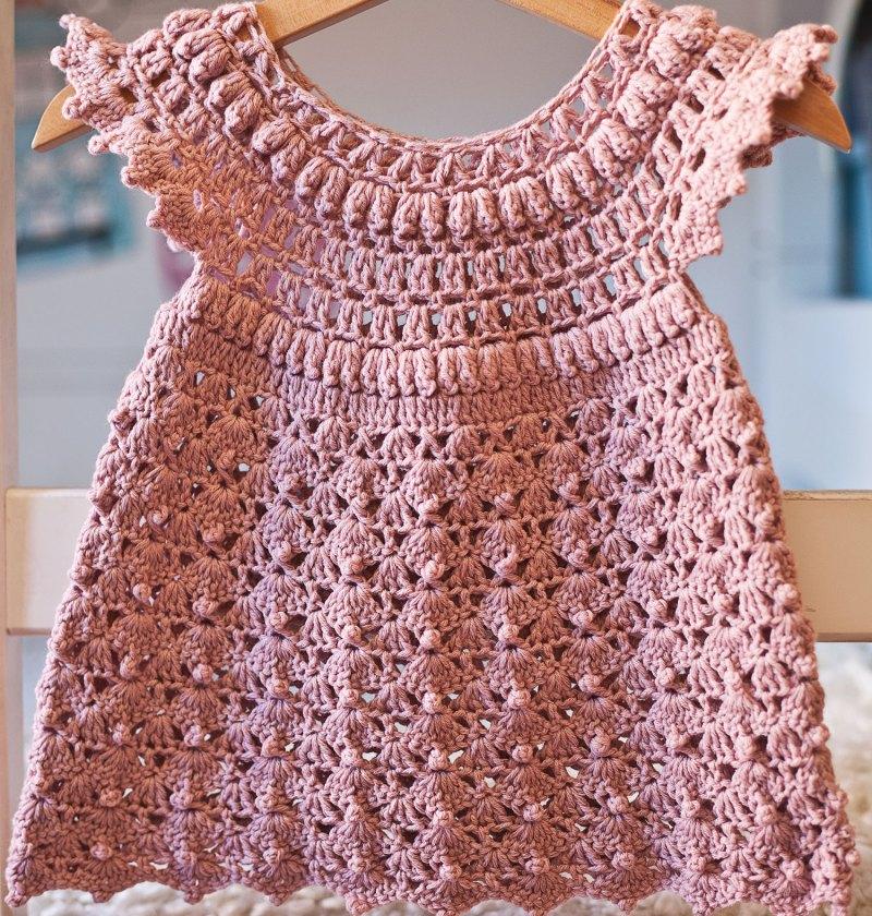 Like a Pink Cloud Dress, crochet pattern by Mon Petit Violon