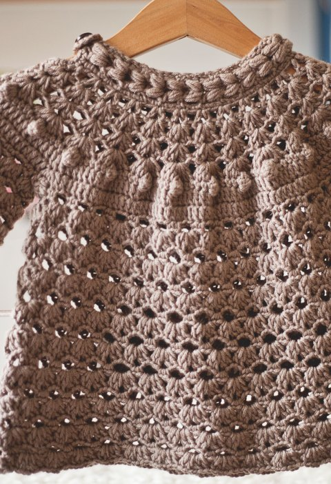 Braid Tunic Dress, crochet pattern by Mon Petit Violon
