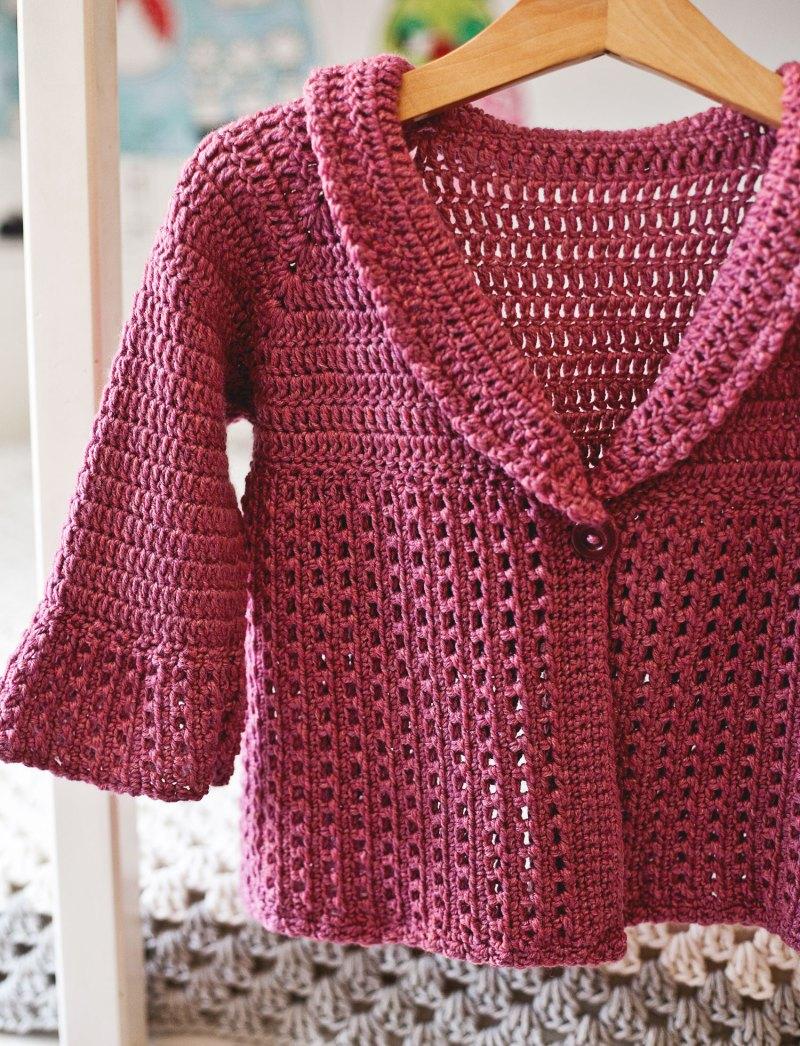 Berry Cardigan, crochet pattern by Mon Petit Violon