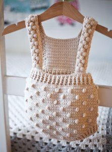 Bobble Romper, crochet pattern by Mon Petit Violon