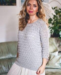 Pretty Bobbles Sweater, crochet pattern by Mon Petit Violon