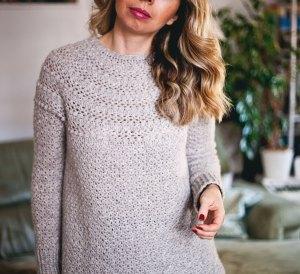 Jasmine Sweater, crochet pattern by Mon Petit Violon