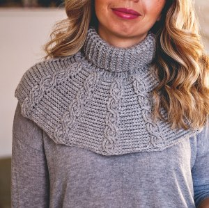 Favorite Cable Cowl, crochet pattern by Mon Petit Violon