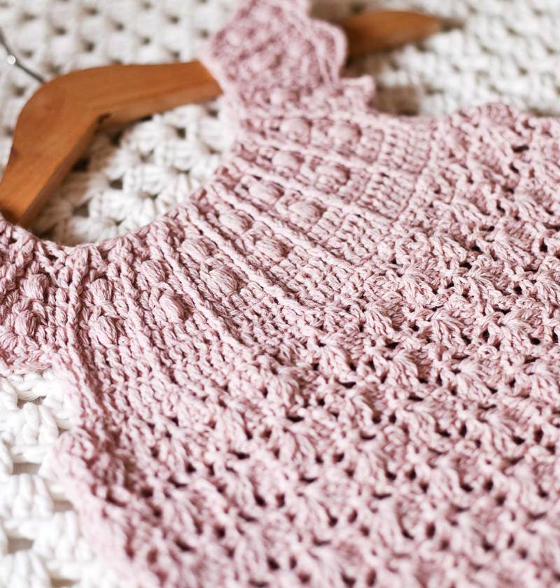 Dusty Rose Dress. crochet pattern by Mon Petit Violon