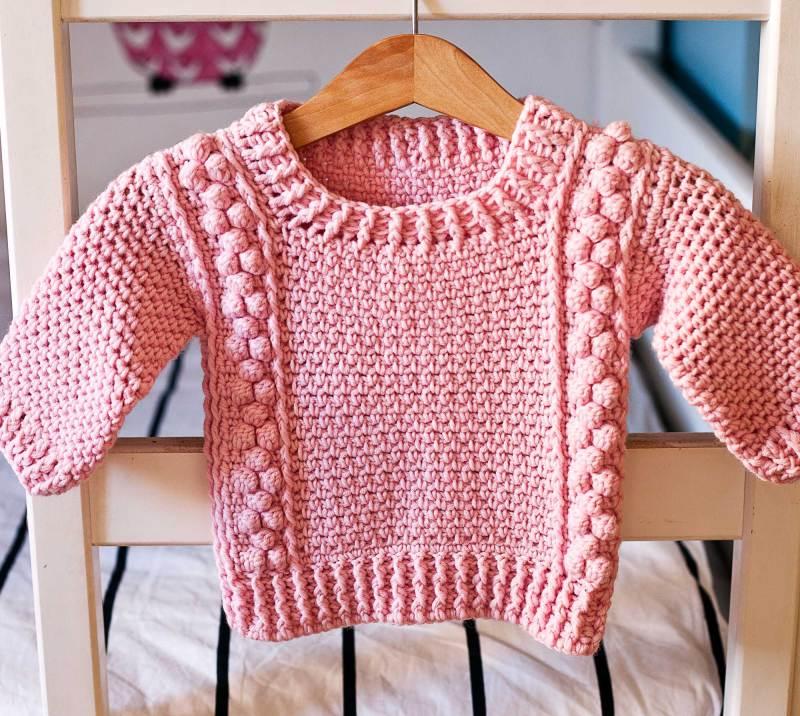 Bobble Sweater, crochet pattern by Mon Petit Violon
