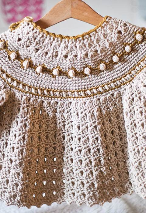Jacquard Sweater, crochet pattern by Mon Petit Violon