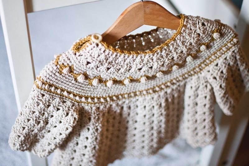 Jacquard Sweater, crochet pattern by Mon Petit Violon