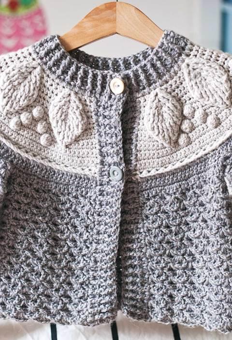 Harvest Cardigan, crochet pattern by Mon Petit Violon