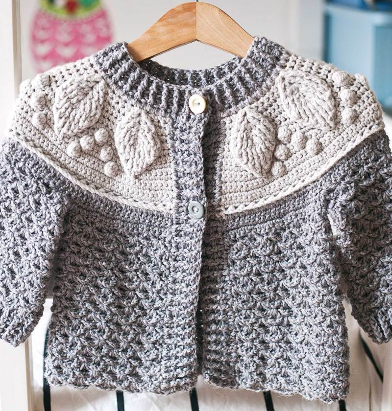 Harvest Cardigan, crochet pattern by Mon Petit Violon