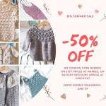 All new patterns! And 20% discount!