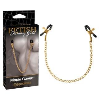 Nipple Clamps - Pinces à Mamelons - Fetish Fantasy Gold