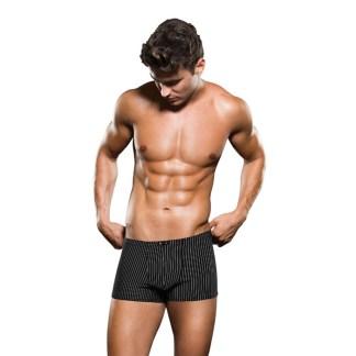 Boxer Noir Ligné Blanc - BCE041 - Envy Mens Wear