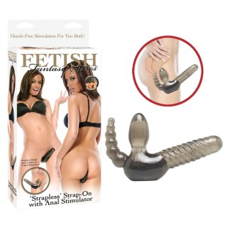 Strapless Strap-On with Anal Stimulator - Fetish Fantasy Series