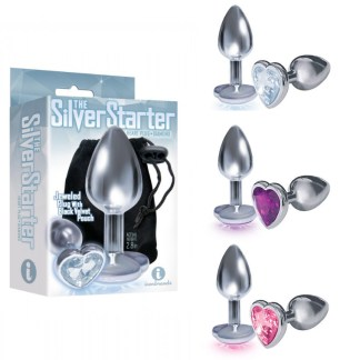 The Silver Starter - Plug Anale avec Bijou en Coeur - Icon Brands
