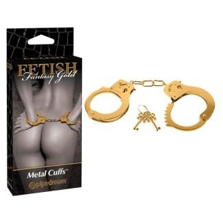 Metal Cuffs - Menottes - Fetish Fantasy Gold