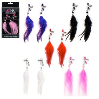 Feather Nipple Clamps - Pinces à Mamelons avec Plumes - Kink Collection
