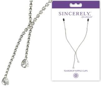 Nipple Clamps w Teardrop Crystals - Sincerely - Pinces à Mamelons avec Bijoux - Sporsheets