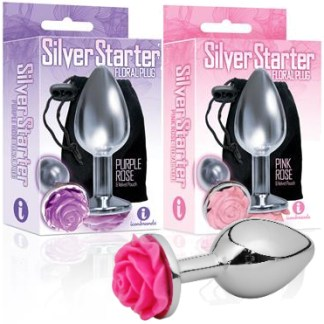 The Silver Starter Floral Plug - Plug Anale avec Bijou - Icon Brands