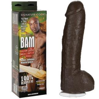 Bam Realistic Cock - Vac-U-Lock - Gode Signature - Doc Jonhson