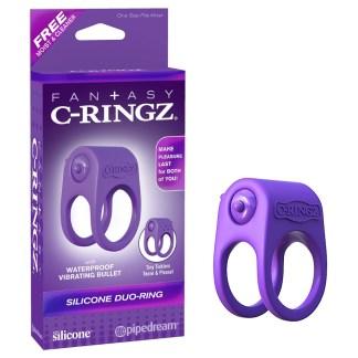 Silicone Duo-Ring - Anneau Double Vibrant - Fantasy C-Ringz