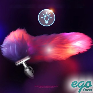 Butt Plug with LED Tail - Plug Anale avec Queue Lumineuse - Ego Driven