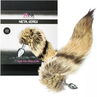 Fire Fox Anal Plug - Metal Series - Plug Anale avec Queue de Renard - Kink Collection