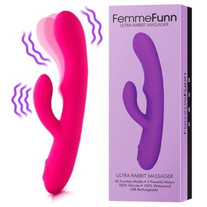 Ultra Rabbit - Vibrateur Double Stimulation Rechargeable - FemmeFunn