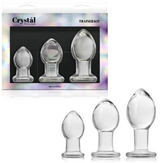 Plug Kit - Ensemble de Plugs Anale en Verre - Crystal Premium Glass