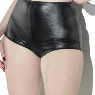 Booty Short Taille Haute en Wetlook - D9368 - Coquette