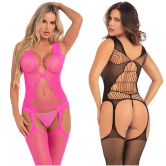 Bodystocking - 27034 - Pink Lipstick