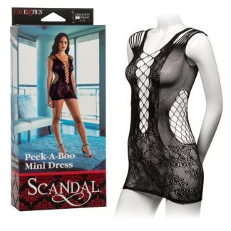 Peek-A-Boo Mini Dress - Mini-Robe - Scandal