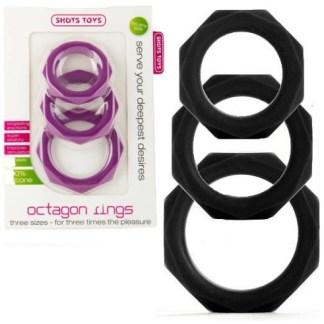 Octogon Rings - Ensemble d'Anneaux - Shots