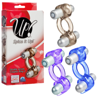 Double Action Couples Ring 2 - Spice it Up! - Anneau Double Vibrant - California Exotics