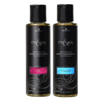 Me & You - Huile de Massage avec Pheromones - Sensuva