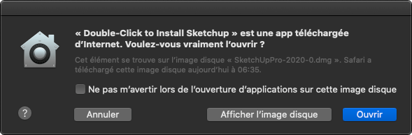 j'installe sketchup sur mon mac