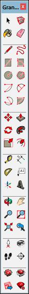 grande barre d'outils sketchup sur windows