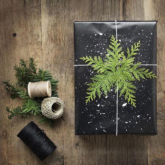 black-wrapping-paper-white-paint-splatter