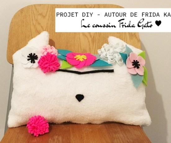 coussin chat frida gato kahlo projet diy