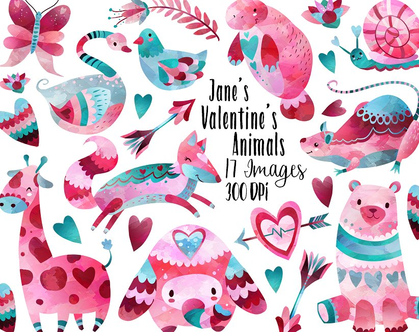 janes valentines animals