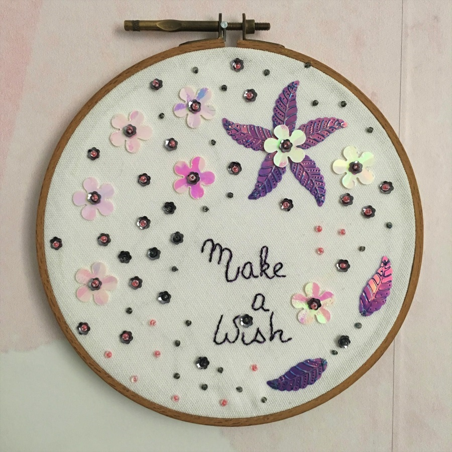 make a wish embroidery
